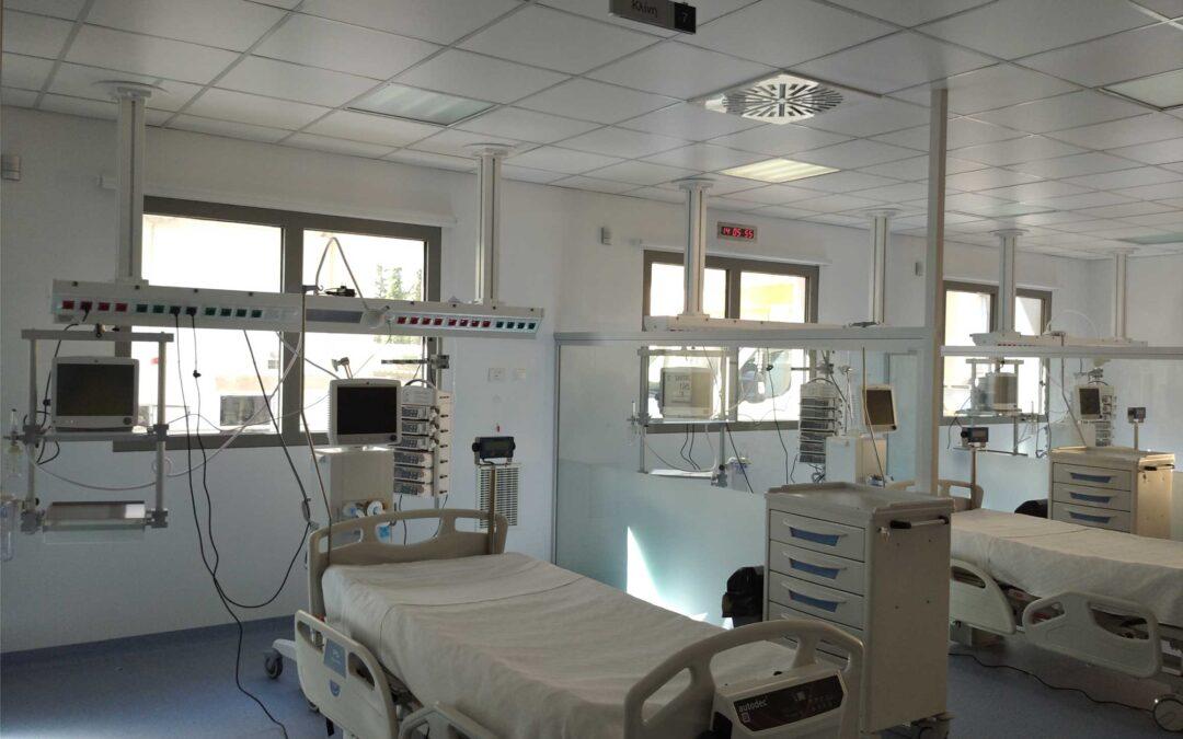 Νοσοκομείο «ΣΩΤΗΡΙΑ», Νέα πτέρυγα 50 κλινών ΜΕΘ (10/2020)